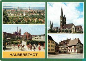 AK / Ansichtskarte Halberstadt Martinikirche Dom Clara Zetkin Gebiet Kat. Halberstadt