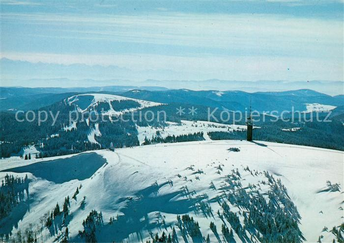 AK / Ansichtskarte Feldberg Schwarzwald Seebuck Fernsehturm Schweizer Alpen Winter Kat. Feldberg (Schwarzwald)