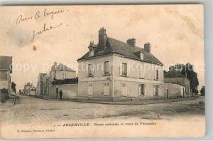 AK / Ansichtskarte Angerville Calvados Route nationale et route de Villeneuve Kat. Angerville