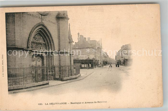 AK / Ansichtskarte La Delivrande Basilique et Avenue de Douvres Kat. Douvres la Delivrande