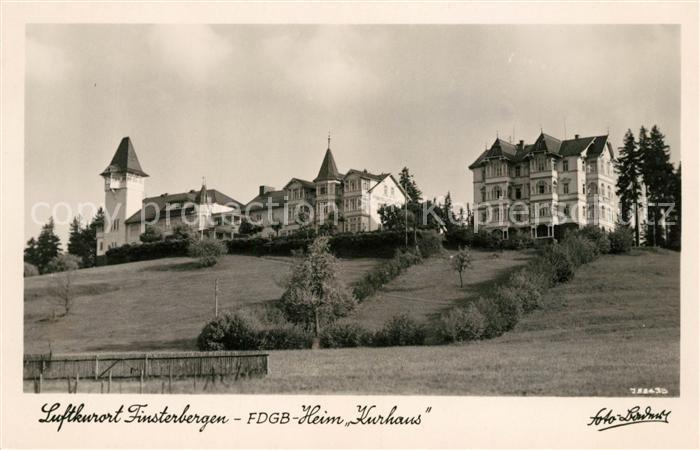 AK / Ansichtskarte Finsterbergen FDGB Heim Kurhaus Kat. Finsterbergen Thueringer Wald