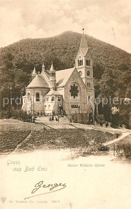 AK / Ansichtskarte Bad Ems Kaiser Wilhelm Kirche Kat. Bad Ems