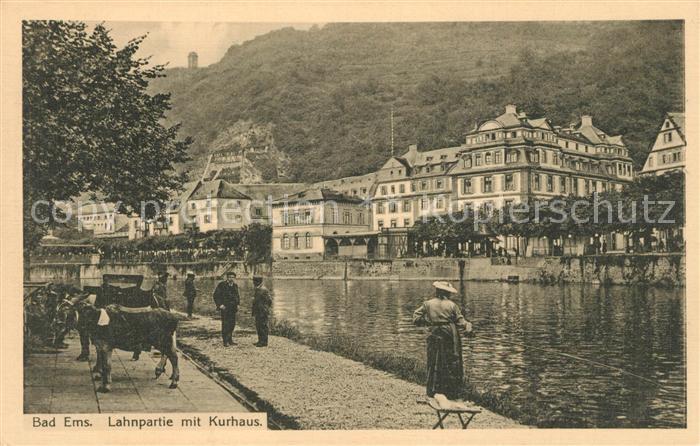 AK / Ansichtskarte Bad Ems Lahnpartie mit Kurhaus Kat. Bad Ems