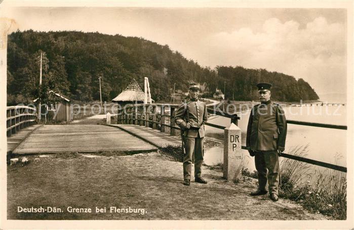 AK / Ansichtskarte Flensburg Deutsch Daeische Grenze Soldaten Kat. Flensburg