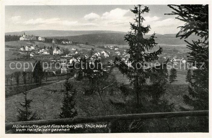 AK / Ansichtskarte Finsterbergen Blick vom Hainfelsen Kat. Finsterbergen Thueringer Wald