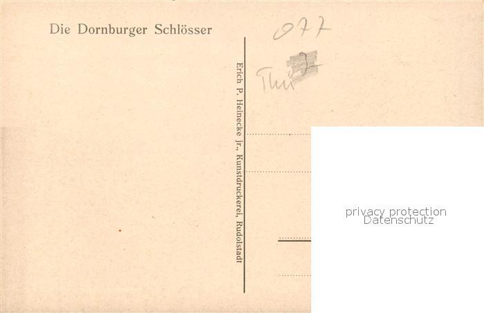 AK / Ansichtskarte Dornburg Saale Dornburger Schloesser Kat. Dornburg Saale 1