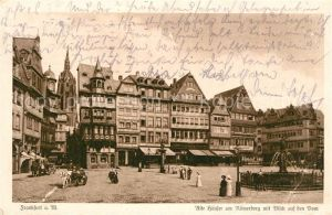 AK / Ansichtskarte Frankfurt Main Alte Haeuser am Roemerberg mit Blick auf den Dom Kat. Frankfurt am Main