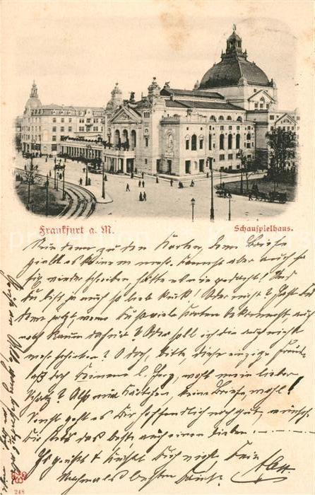 AK / Ansichtskarte Frankfurt Main Schauspielhaus Kat. Frankfurt am Main