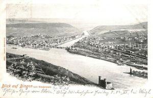 AK / Ansichtskarte Bingen Rhein Panorama Blick vom Niederwald Kat. Bingen am Rhein