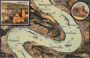 AK / Ansichtskarte Boppard Rhein und Umgebung bis Oberlahnstein aus der Vogelperspektive Stolzenfels Koenigsstuhl bei Rhens Kat. Boppard