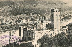 AK / Ansichtskarte Schloss Stolzenfels Ansicht vom Berg aus Kat. Koblenz