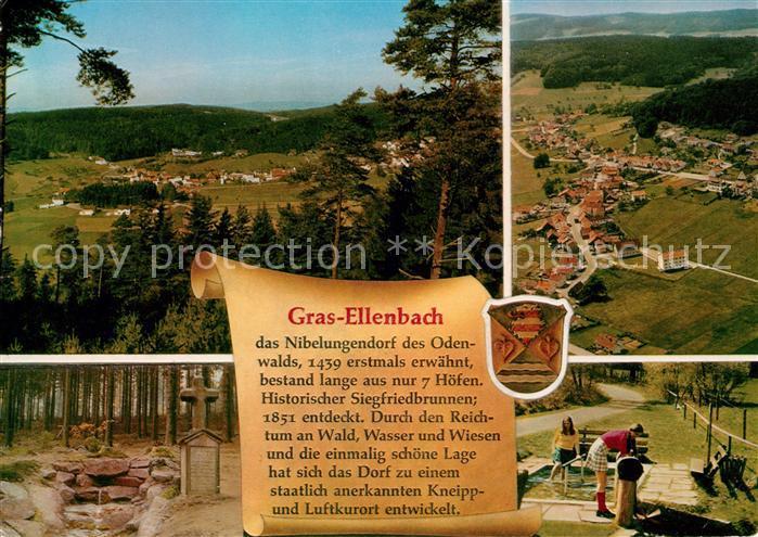 AK / Ansichtskarte Gras Ellenbach Fliegeraufnahme Panoramen Kat. Grasellenbach