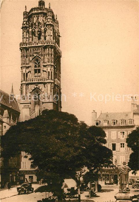 Rodez Clocher de la Cathedrale Statue de Monseigneur Affre Kat. Rodez