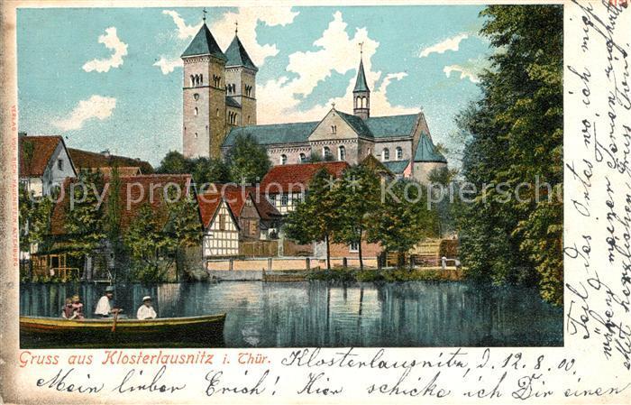 Klosterlausnitz Bad Kirche Teichpartie Kat. Bad Klosterlausnitz