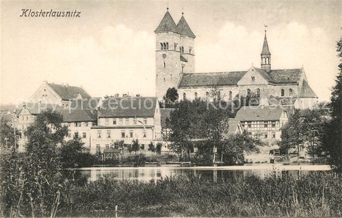 Klosterlausnitz Bad Kirche Teich Kat. Bad Klosterlausnitz