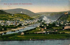 Niederlahnstein Panorama Blick ins Lahntal Kat. Lahnstein