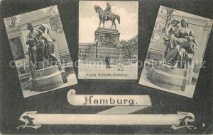 Hamburg Verkehrswesen Kaiser Wilhelm Denkmal Wohlfahrtsgesetze Denkmaeler und Skulpturen Kat. Hamburg