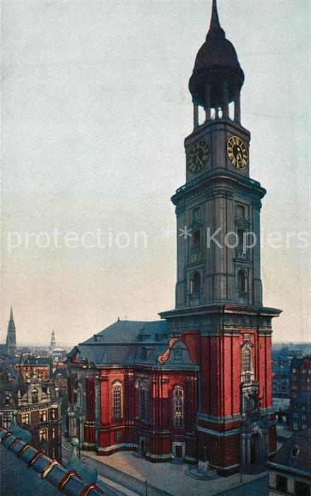 Hamburg Michaeliskirche Der Michel Wahrzeichen Kat Hamburg Nr