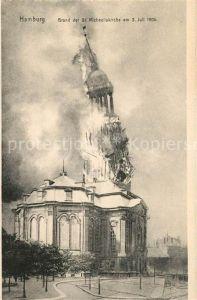 Hamburg Brand der St Michaeliskirche am 3. Juli 1906 Kat. Hamburg