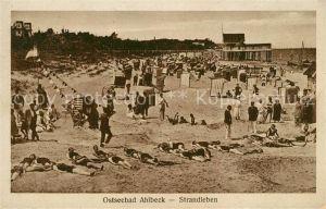 Ahlbeck Ostseebad Strandleben Kat. Heringsdorf Insel Usedom