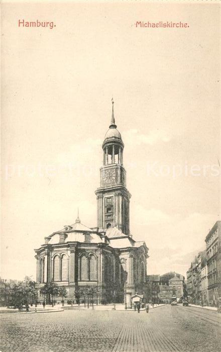 Ak Ansichtskarte Hamburg Michaeliskirche Der Michel Wahrzeichen