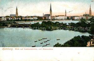 AK / Ansichtskarte Hamburg Blick auf Lombardsbruecke und Binnenalster Kat. Hamburg