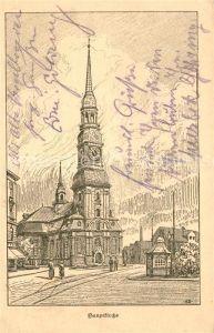 AK / Ansichtskarte Altona Hamburg Hauptkirche Altonas Opfertag 18. Januar 1916 Altonas Kriegshilfe Kuenstlerkarte Kat. Hamburg