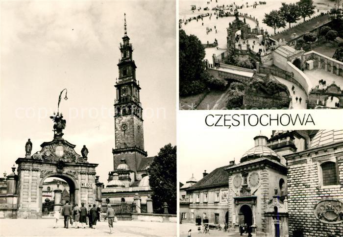 AK / Ansichtskarte Czestochowa Schlesien Kirchenturm Tor Gorze Kat. Tschenstochau