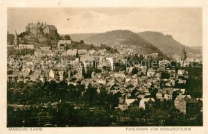 Marburg Lahn Schlossblick vom Bismarckturm Kat. Marburg