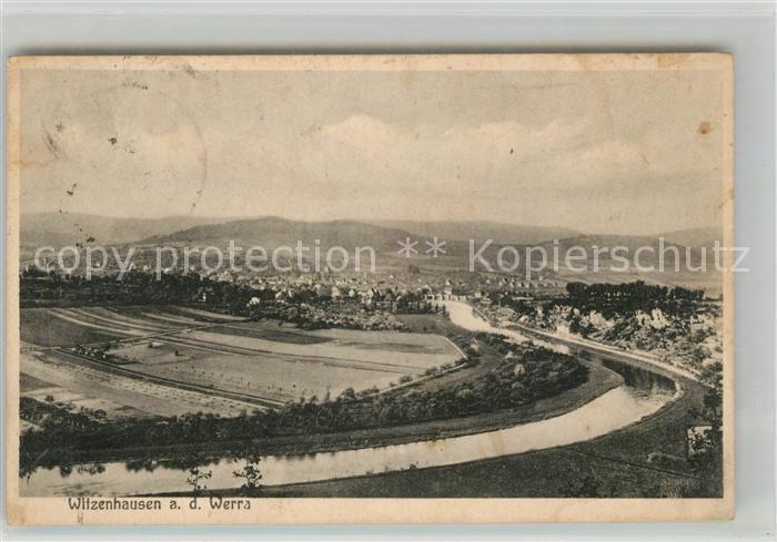 Witzenhausen Werra Panorama  Kat. Witzenhausen