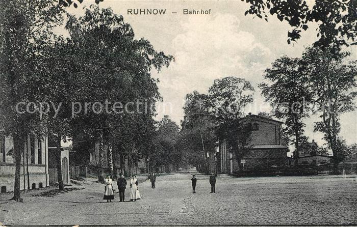 AK / Ansichtskarte Ruhnow Bahnhof