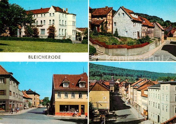 AK / Ansichtskarte Bleicherode Kulturhaus Glueck auf Angerberg Kirchstrasse Maxim Gorki Strasse Kat. Bleicherode