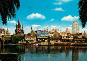 AK / Ansichtskarte Melbourne Victoria Skyline Yarra Yarra Kat. Melbourne