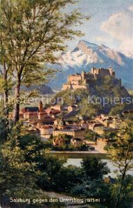 AK / Ansichtskarte Salzburg Oesterreich Festung Hohensalzburg mit Untersberg Kat. Salzburg