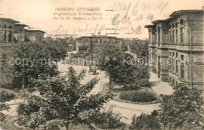 Eppendorf Hamburg Allgemeines Krankenhaus Kat. Hamburg