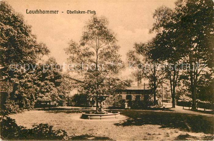 AK / Ansichtskarte Lauchhammer Obeliskenplatz Brunnen Kat. Lauchhammer