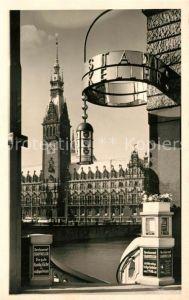 AK / Ansichtskarte Hamburg Blick aufs Rathaus Kat. Hamburg