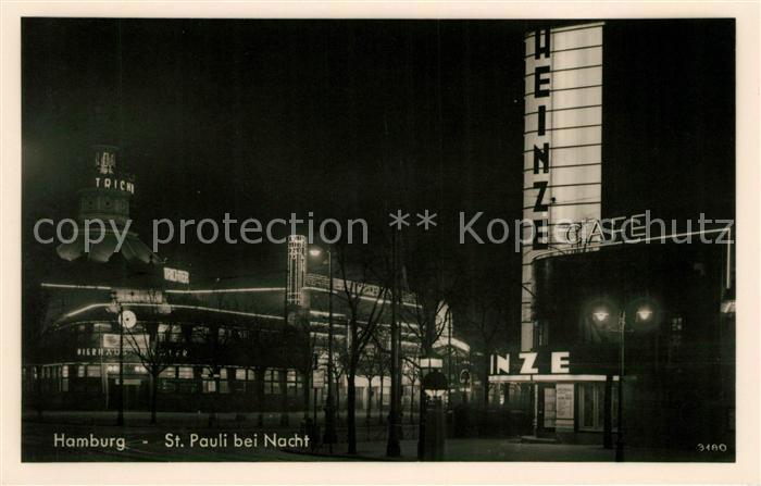 AK / Ansichtskarte St Pauli bei Nacht Kat. Hamburg