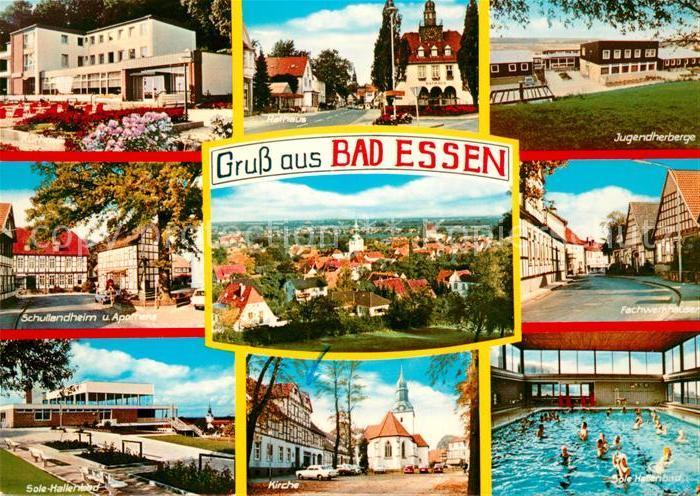 AK / Ansichtskarte Bad Essen Jugendherberge Sole Hallenbad Kirche Kat. Bad Essen