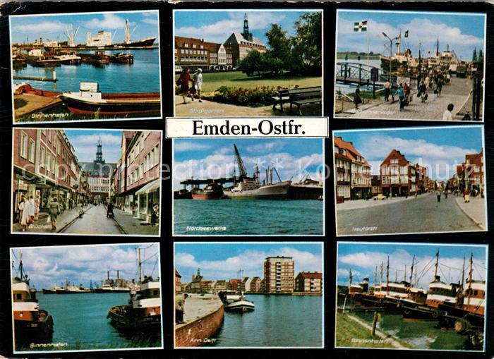 AK / Ansichtskarte Emden Ostfriesland Binnenhafen Nordseewerke Neutorstrasse Kat. Emden