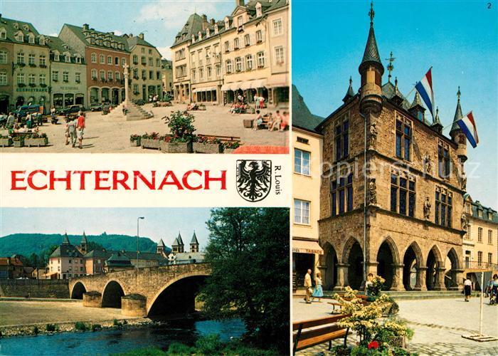 AK / Ansichtskarte Echternach Place du Marche Denzelt  Kat. Luxemburg