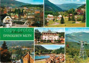 AK / Ansichtskarte Spindleruv Mlyn Spindlermuehle Stred Zotavovna ROH Hotel Montana Kat. Trutnov