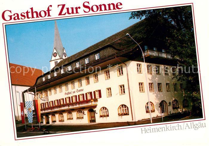 AK / Ansichtskarte Heimenkirch Gasthof Zur Sonne Kat. Heimenkirch