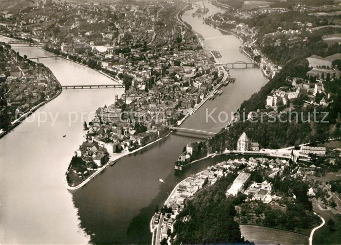 AK / Ansichtskarte Passau Fliegeraufnahme Kat. Passau