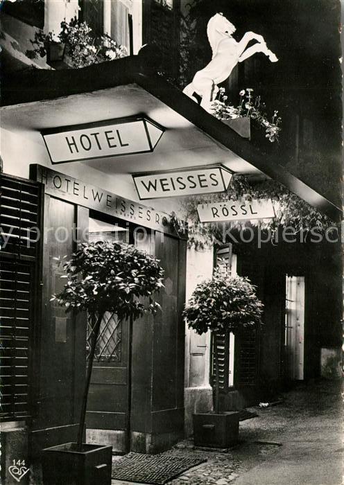 AK / Ansichtskarte St Wolfgang Wolfgangsee Hotel Weisses Roessl Kat. St. Wolfgang im Salzkammergut