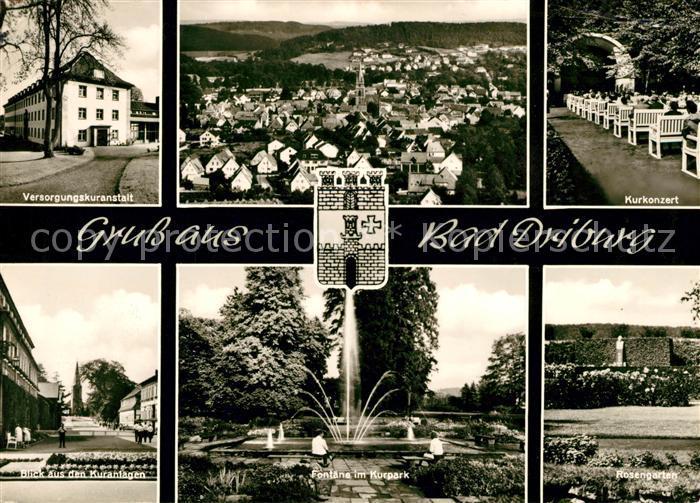 AK / Ansichtskarte Bad Driburg Versorgungskuranstalt Kurkonzert Kuranlagen Fontaene Kurpark  Kat. Bad Driburg
