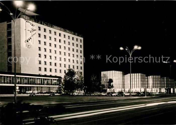 AK / Ansichtskarte Wolfsburg Rathaus Kulturzentrum Nacht Kat. Wolfsburg