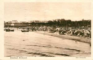 AK / Ansichtskarte Ahlbeck Ostseebad Am Strande Kat. Heringsdorf Insel Usedom