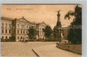 AK / Ansichtskarte Altona Hamburg Rathaus und Kriegerdenkmal Kat. Hamburg
