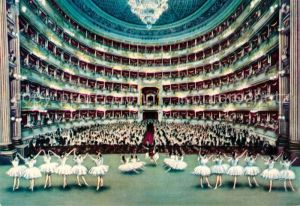 AK / Ansichtskarte Milano Teatro alla Scala Kat. Italien